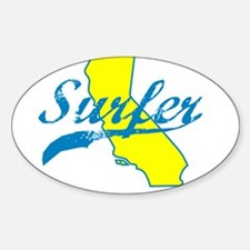 SURFER SHIRT CALIFORNIA SURFING T SHIRT TEE Sticke