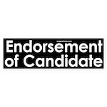 Endorsement of Candidate Sticker (Bumper