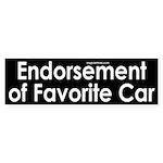 Endorsement of Favorite Car Sticker (Bum