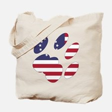 Betsy Ross Flag Cat Paw Tote Bag