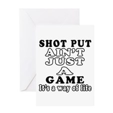 Shot Put ain't just a game Greeting Card