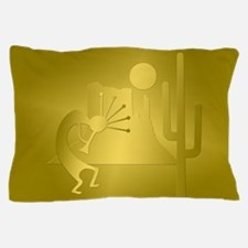 Golden Regal Kokopelli Set Pillow Case