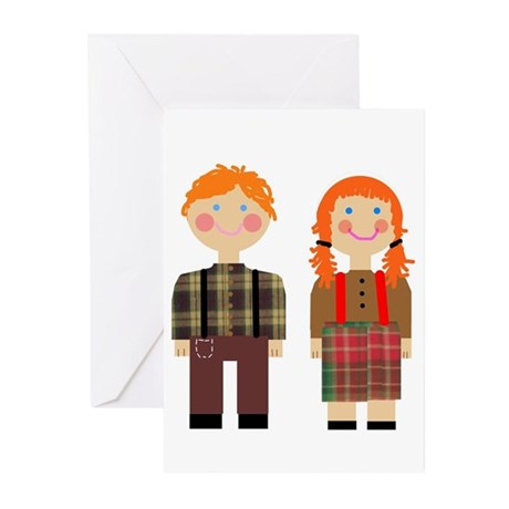 Raggedy Ann and Andy Greeting Cards (Pk of 10