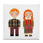 Raggedy Ann and Andy Tile Coaster