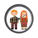 Raggedy Ann and Andy Wall Clock