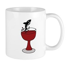 Killer Whale Leaping in Wine Glass Mug