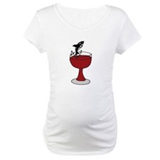Killer Whale Leaping in Wine Glass Shirt