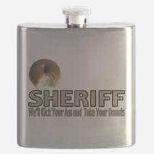 Sheriff We'll Kick Your Ass Flask