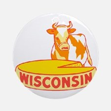 Vintage Wisconsin Cheese Ornament (Round)