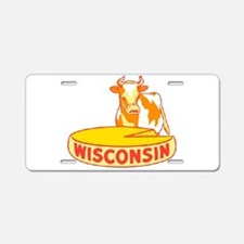 Vintage Wisconsin Cheese Aluminum License Plate