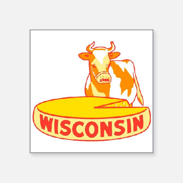 Vintage Wisconsin Cheese Sticker