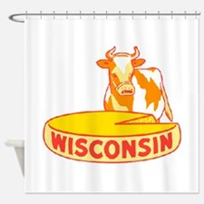 Vintage Wisconsin Cheese Shower Curtain