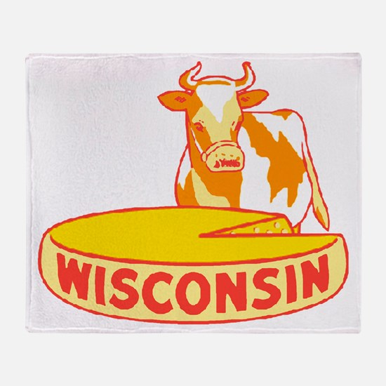 Vintage Wisconsin Cheese Throw Blanket