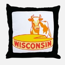 Vintage Wisconsin Cheese Throw Pillow