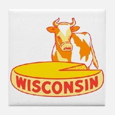 Vintage Wisconsin Cheese Tile Coaster