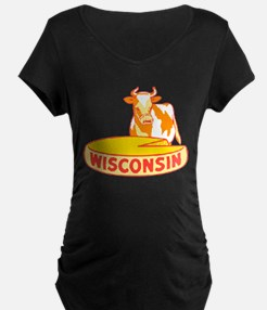 Vintage Wisconsin Cheese Maternity T-Shirt