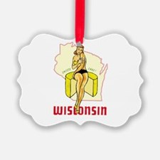 Vintage Wisconsin Pinup Ornament