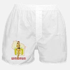 Vintage Wisconsin Pinup Boxer Shorts