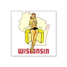 Vintage Wisconsin Pinup Sticker
