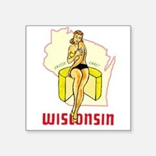 Vintage Wisconsin Pinup Sticker