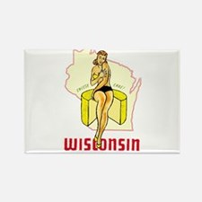 Vintage Wisconsin Pinup Rectangle Magnet