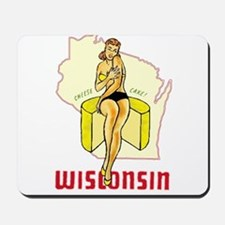 Vintage Wisconsin Pinup Mousepad