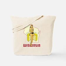 Vintage Wisconsin Pinup Tote Bag