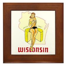 Vintage Wisconsin Pinup Framed Tile