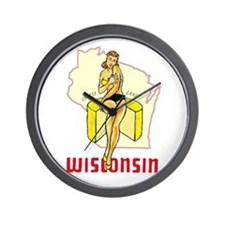 Vintage Wisconsin Pinup Wall Clock