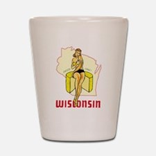 Vintage Wisconsin Pinup Shot Glass