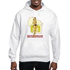 Vintage Wisconsin Pinup Hoodie
