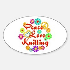Peace Love Knitting Decal