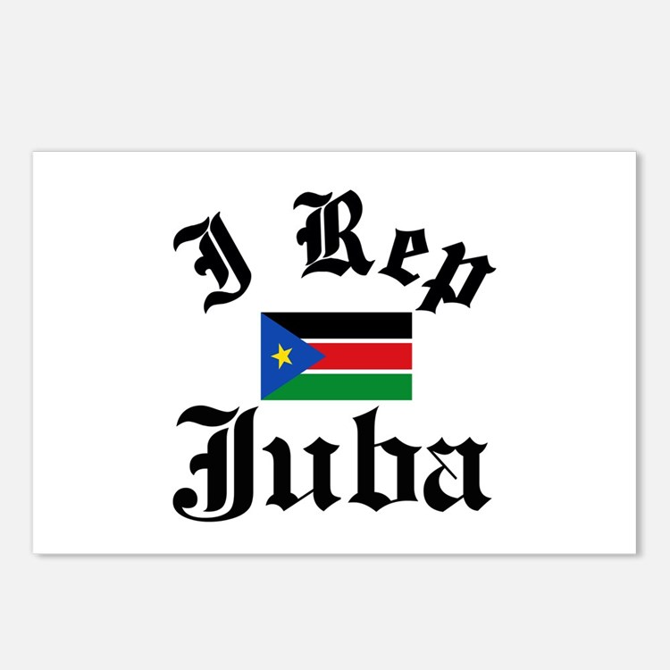 I rep Juba Postcards (Package of 8)