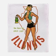 Illinois Pinup Throw Blanket
