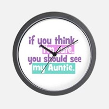 If you think I'm Cute -Auntie Wall Clock