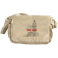 """""""Going To London"""" Lyric - Big Ben Messenger Bag"""