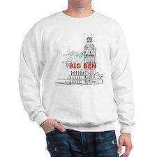 """""""Going To London"""" Lyric - Big Ben Sweatshirt"""
