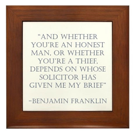 Franklin Thief or not Framed Tile