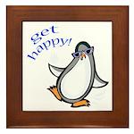 Get Happy Dancing Penguin Framed Tile