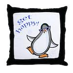 Get Happy Dancing Penguin Throw Pillow