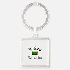I rep Lusaka Square Keychain