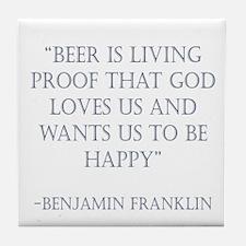 Franklin Beer Tile Coaster