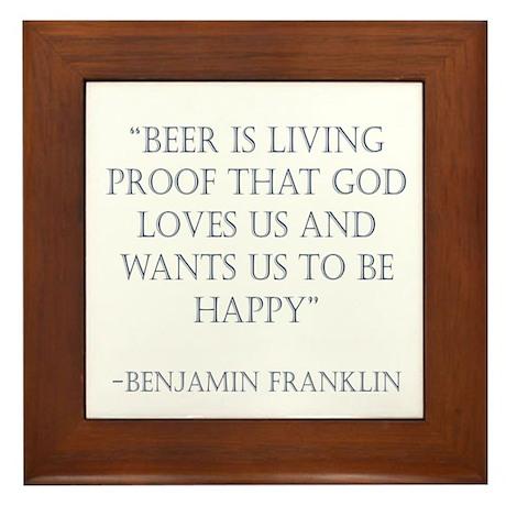 Franklin Beer Framed Tile