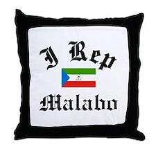 I rep Malabo Throw Pillow