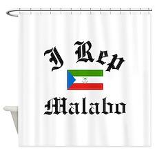 I rep Malabo Shower Curtain