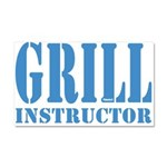Grill instructor Car Magnet 20 x 12