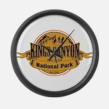 kings canyon 2 Large Wall Clock