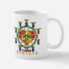 I Love Sicilia Trinacria Sicilian  Mug
