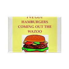 hamburger Rectangle Magnet (10 pack)