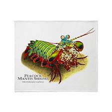 Peacock Mantis Shrimp Throw Blanket
